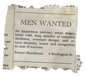 Job Description - Ernest Shackleton
